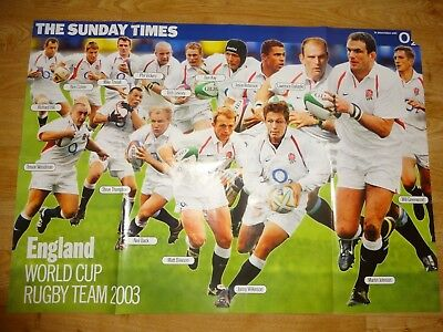 England World Cup Rugby Team Full Colour Poster 2003