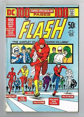 THE FLASH #214 100 Page Super Spectacular DC-11 Metal Men Golden Age Flash 7.0