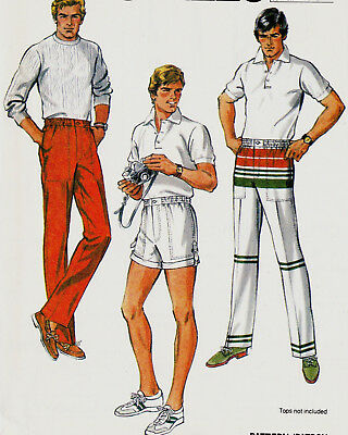 1980's McCall's Pattern #7890 MEN'S PANTS and SHORTS ~ Size 36 ~ UNCUT