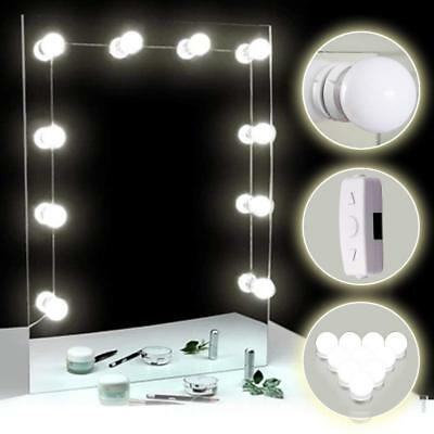 Makeup LED Vanity Mirror Strip Lights, Dimmable White Flexible Light Kits NEW US