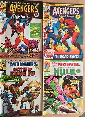 Avengers and Marvel Comics From 1974