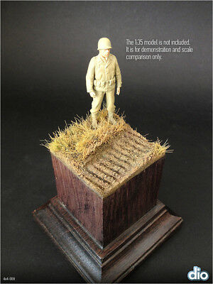 Built & Painted Diorama Base (4cm square, raised) Countryside Terrain Variations