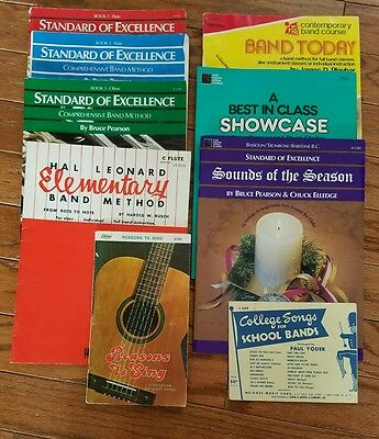 Music book lot standard of excellence for band teacher set 41 lot of 9 vintage new music books leonard yoder standard of excellence w49 fandeluxe Choice Image
