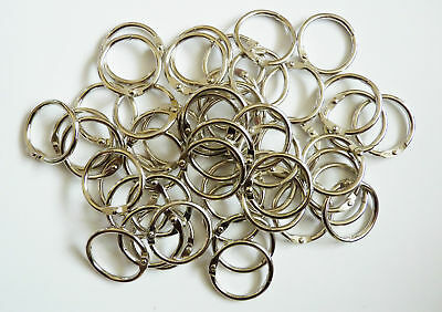 25mm METAL BINDING RINGS BULK PACK 50, can be used with Tolsby Frames