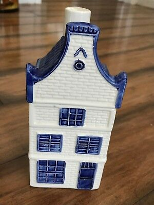 """Vintage 7.5"""" Delft Blue """"house"""" Cookie Jar / Canister •very Clean"""