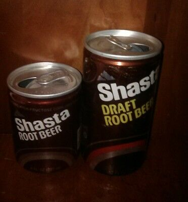 Shasta Root Beer 12OZ & 8OZ 2 cans