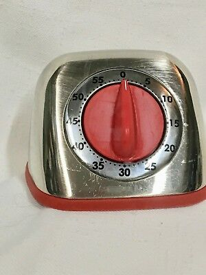 Martha Stewart Collection Red and Chrome 60 Minute Timer