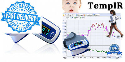 Pulse Oximeter - Finger - TempIR Handheld Portable - Digital Blood Oxygen...