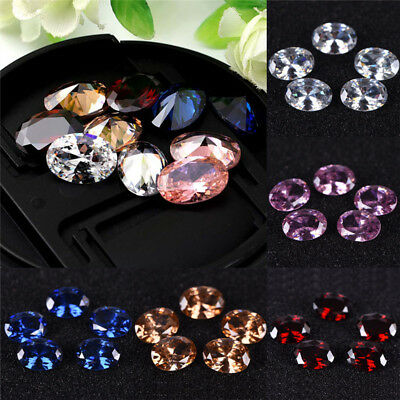 10 x 14mm Gem Oval Shape Zircon Natural Loose Gemstone Jewelry Handmade SEAU
