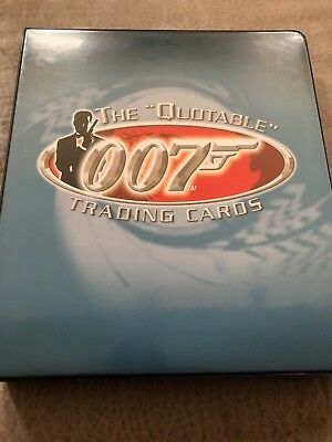 James Bond Quotable Binder- With 3 Sets!!! Includes A Rare A View To A Kill Set