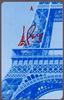 THE PARIS CASINO**EIFFLE TOWER first issue blue *Las Vegas hotel key card# 44