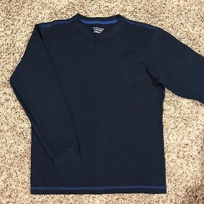 OLD NAVY BOYS WAFFLE THERMAL long sleeve SHIRT Blue size Large L 12