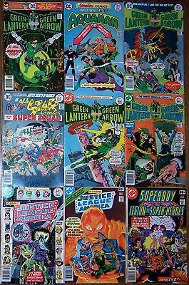 Green Lantern Arrow #90 92-94 Justice League 145 147 148 154 JSA Legion 239 241