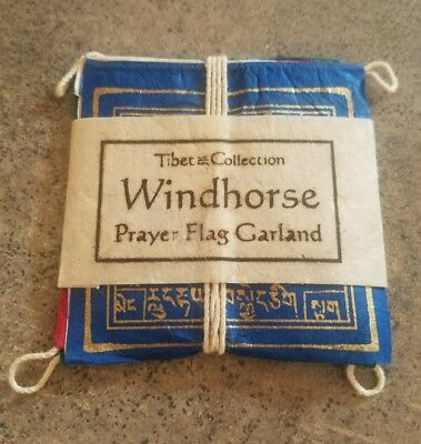 Windhorse prayer flag Garland Tibet collection hand made in Nepal