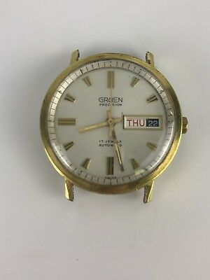 Vintage Men's Gruen Precision Autowind 17 Jewels Date /Day Swiss Watch.
