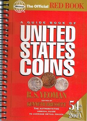 Official Red Guide Book Of United States Coins Reference Catalog Book Rare 2001