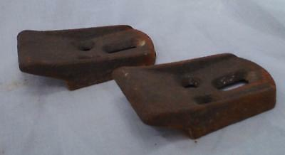 Pair Vintage cast iron Sink Hanger Brackets Wall Mount Supports Braces Cleats