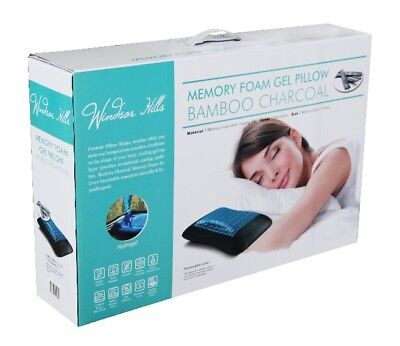 Windsor Hills Activated Bamboo Charcoal Cooling Gel Memory Foam Pillow
