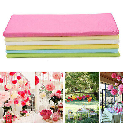 10 Sheets Tissue Paper Flower Wrapping Kids DIY Crafts Materials FT