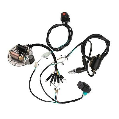 50cc-125cc CDI Wire Harness STATOR Assembly Wiring For PIT Dirt Bike CRF KLX TTR