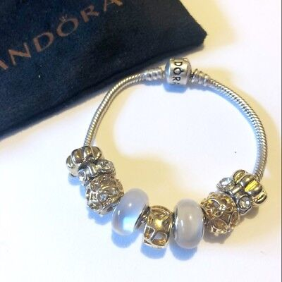 Authentic Pandora Silver Bracelet With Charms