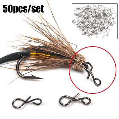 Black Quick Change for Hooks and Lures Fly Fishing Snap Hook 50PCS L / M / S