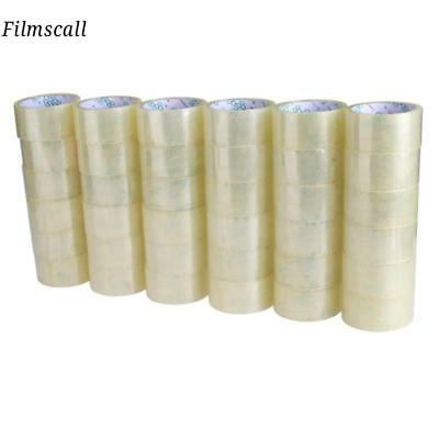 36 ROLLS of PSBM Brand Sealing Clear Packing Packaging Shipping Box Tape US