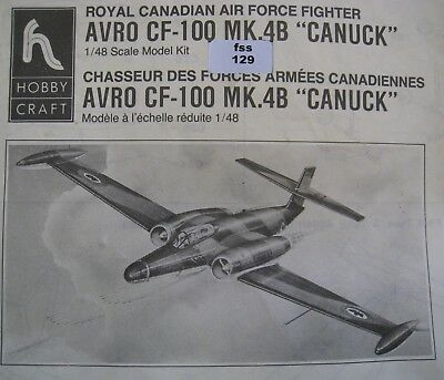 "Hobby Craft Royal Canadian AVRO CF-100 MK.4B ""CANUCK"" 1/48 (fss129)"