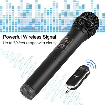 Wireless Bluetooth Handheld Dynamic Microphone Mic System Karaoke KTV Speaker