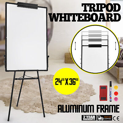 "Mobile Whiteboard Magnetic Dry Erase Board 24"" x 36"" Single Sided with Stand"