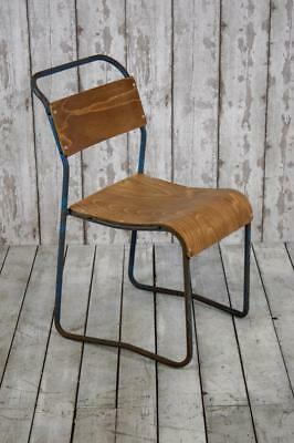 Vintage Mid Century Industrial Stacking Cafe Bar Kitchen Chairs