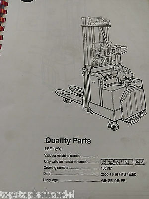 Spare Parts Book BT Electric Stacker Lsf1250 ab Ca. Bj 1998 - 2000 372618-a