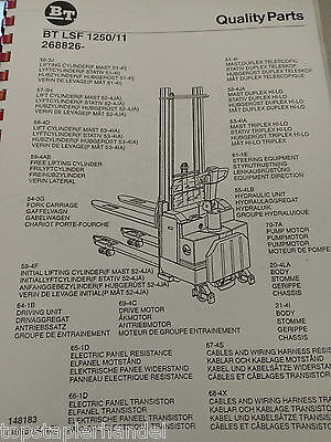 Spare Parts Book BT Electric Stacker Lsf1250/11 from Ser nr 268826aa