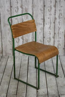 Vintage Mid Century Industrial Stacking Cafe Bar Kitchen Chairs 20+AVAILABLE