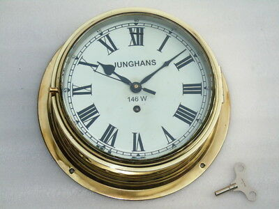 Huge Vintage Sentinel Anglo Swiss Watch Co Ships Marine Mechanical Winding Clock
