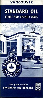 1941 Standard Oil Road Map: Vancouver NOS