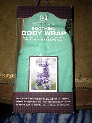 Aroma Home Hot or Cold Soothing Lavender Body Wrap New
