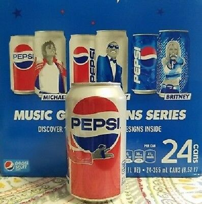ULTRA RARE 24 pack of Michael Jackson Pepsi cans