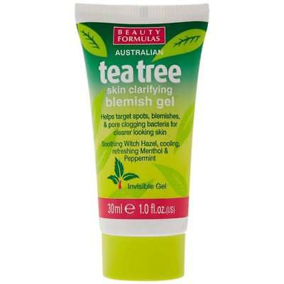 BEAUTY FORMULAS AUSTRALIAN TEA TREE SKIN CLARIFYING BLEMISH GEL 30ml