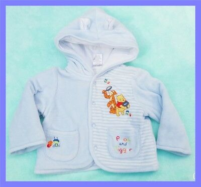 Disney Baby Winnie & Tigger Winter Coat, Boys Size 00, 8kg Excellent Condition