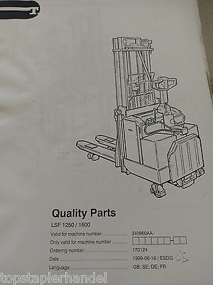 Spare Parts Book BT Electric Stacker Lsf1250/1600 ab Ser. 340960aa