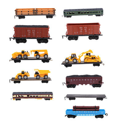 1:87 HO Scale Freight Car Railroad Car Model Train Railway Carriages Vehicle