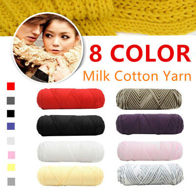 Milk Cotton Yarn 8 Strands Thread Cord Knitting Sewing Wool for Scarf Sweater U2