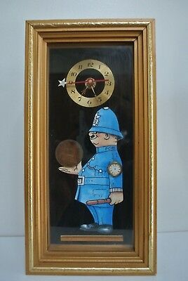 Vintage 'A GOOD OLD FASHIONED COPPER' one Penny Policeman 1960s clock