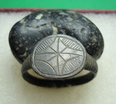 Ancient Roman Bronze Ring Original Authentic Antique Rare R215