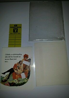 VERY RARE PLAYBOY-UNITED CARD MCMLXIX by HMH Publishing Co.  LOT OF 8