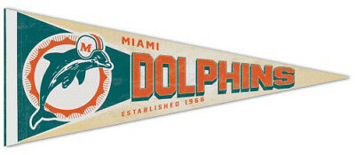 MIAMI DOLPHINS NFL Retro 1970s Style Premium Felt Collector's PENNANT