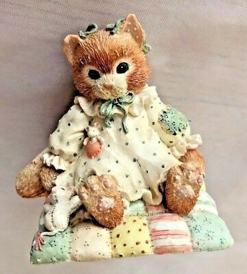 """Enesco 3"""" Calico Kittens Cat YOU WILL ALWAYS BE CLOSE TO MY HEART Figurine"""