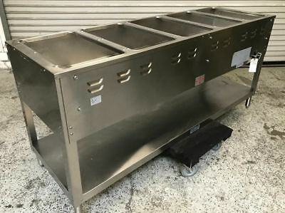 DUKE WELL Steam Table Cabinet Hot Food Bar Buffet Warmer W Sneeze - 4 well gas steam table