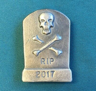 """100 gram 999 Silver Bullion """"Tombstone"""" by YPS Yeager's (Antique Finish)"""